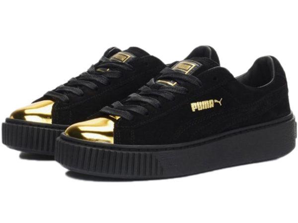 Золотые кроссовки Puma