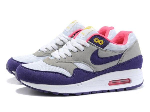 Кроссовки Nike Air Max 87 серо-фиолетовые женские