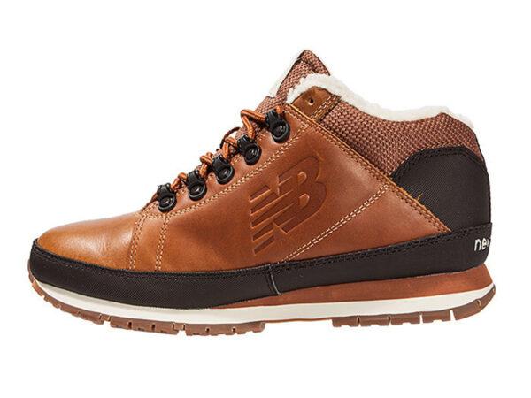 Кроссовки New Balance 754 с мехом кожаные коричневые 40-45