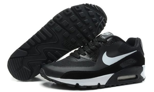 Nike Air Max 90 Hyperfuse черно-белые (40-44)