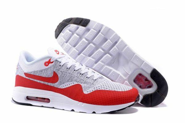 Nike Air Max 87 Ultra Flyknit Серо-красные 40-44