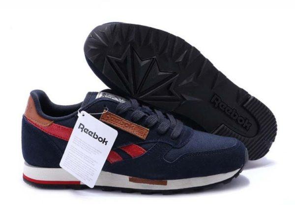 Reebok Classic Leather Utility синие с красным (40-44)