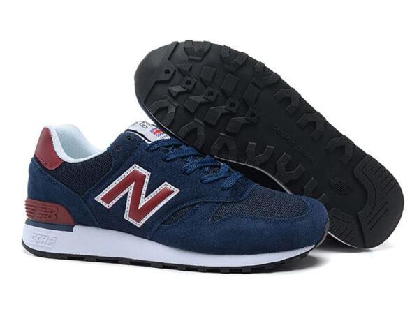 Кроссовки New Balance 670 темно-синие с красным (40-44)
