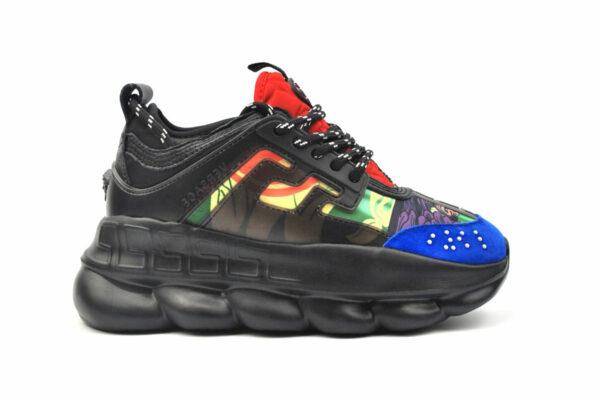 Черные кроссовки Versace